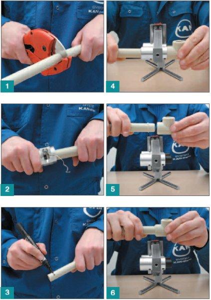 Процесс пайки трубы