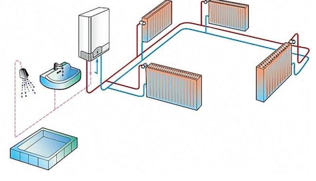Схема двухконтурной системы