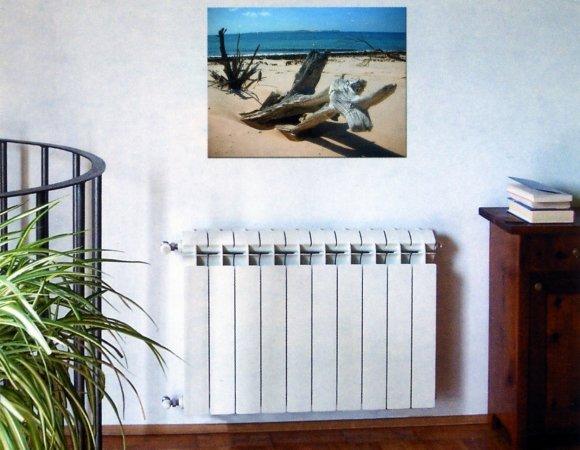 биметаллический радиаторы в интерьере