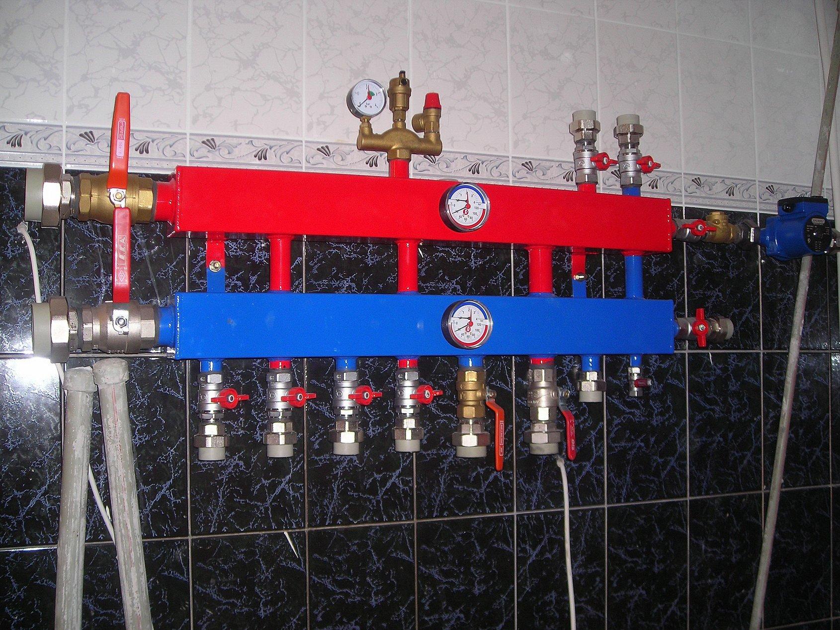 Принцип работы и монтаж коллектора отопления