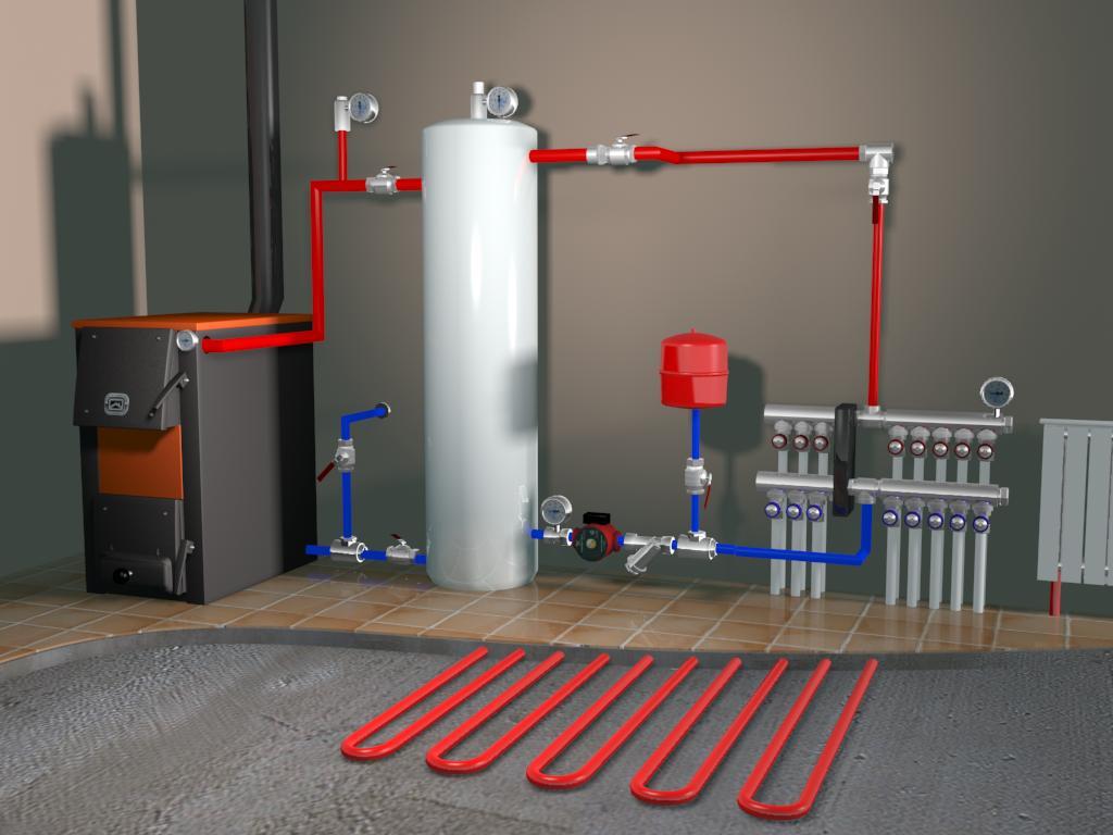 схема отопления с гребенкой