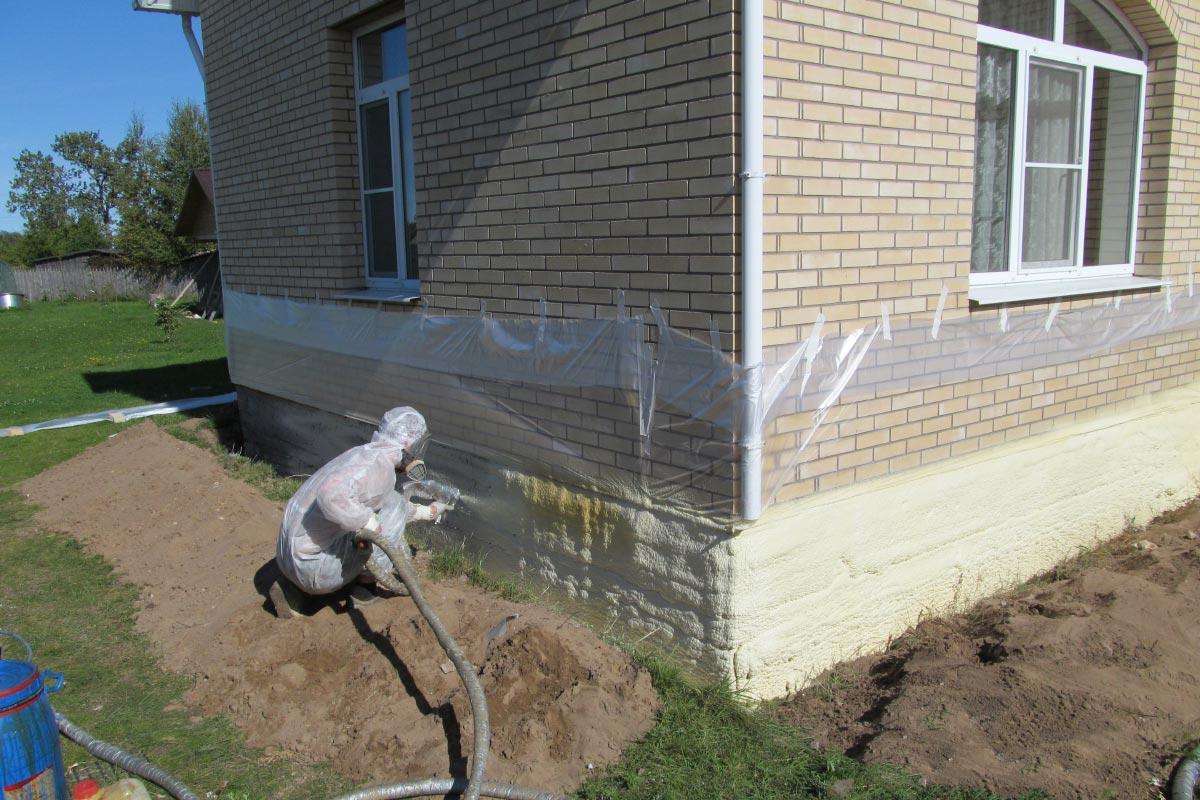 Наружное утепление фундамента дома