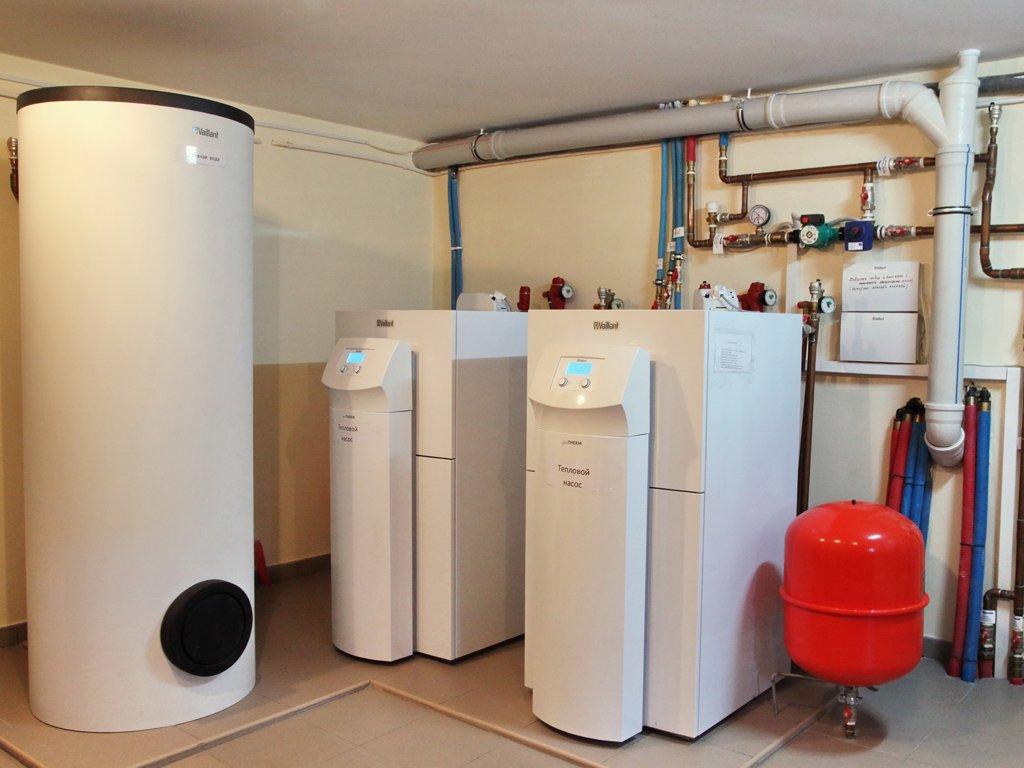Схема и принцип работы теплового насоса в отопительной системе