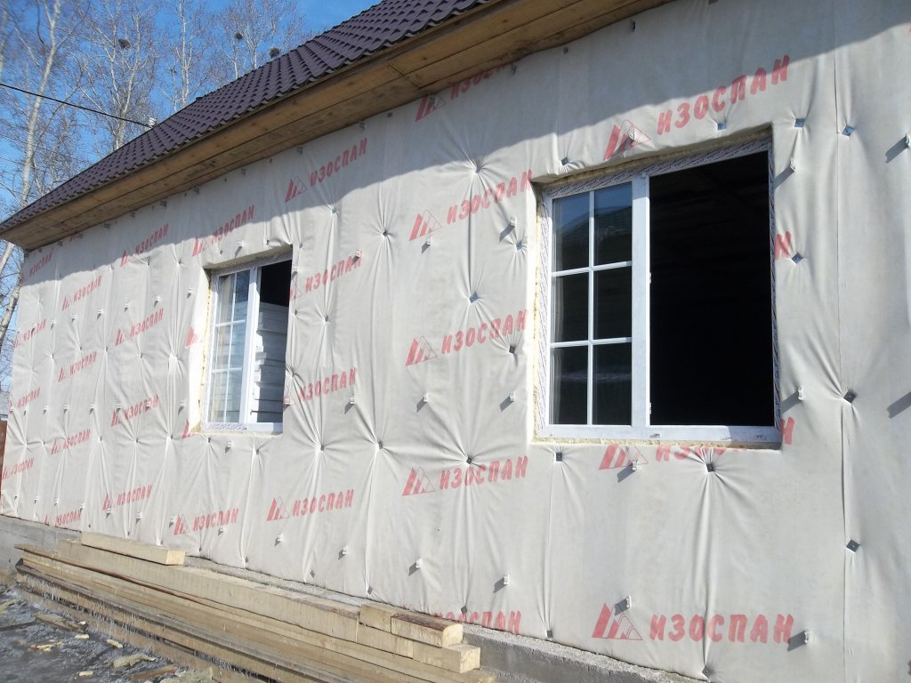Наружное утепление бревенчатого дома
