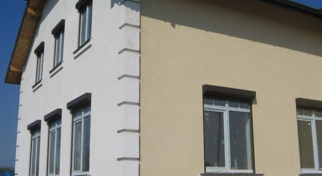 Фасады домов под штукатурку короед