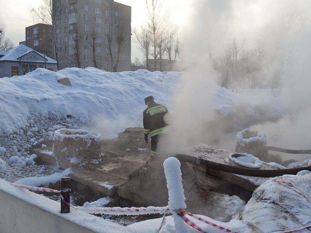 В результате аварии на теплотрассе более 70 домов в Воронеже отключили от отопления