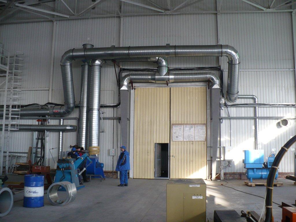 Эффективность воздушного отопления в производственных помещениях