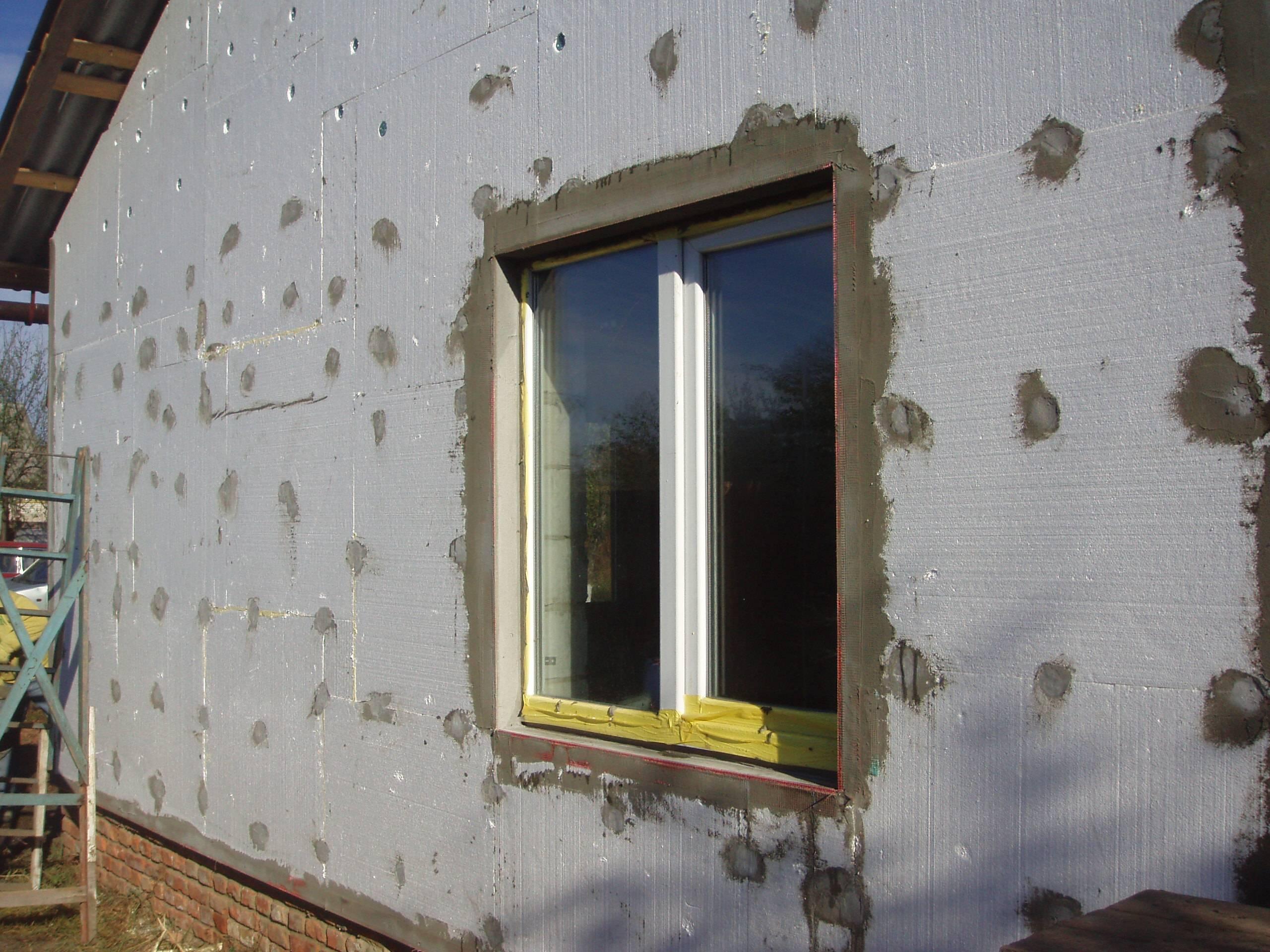 Пенополистирол технология утепления фасада своими руками