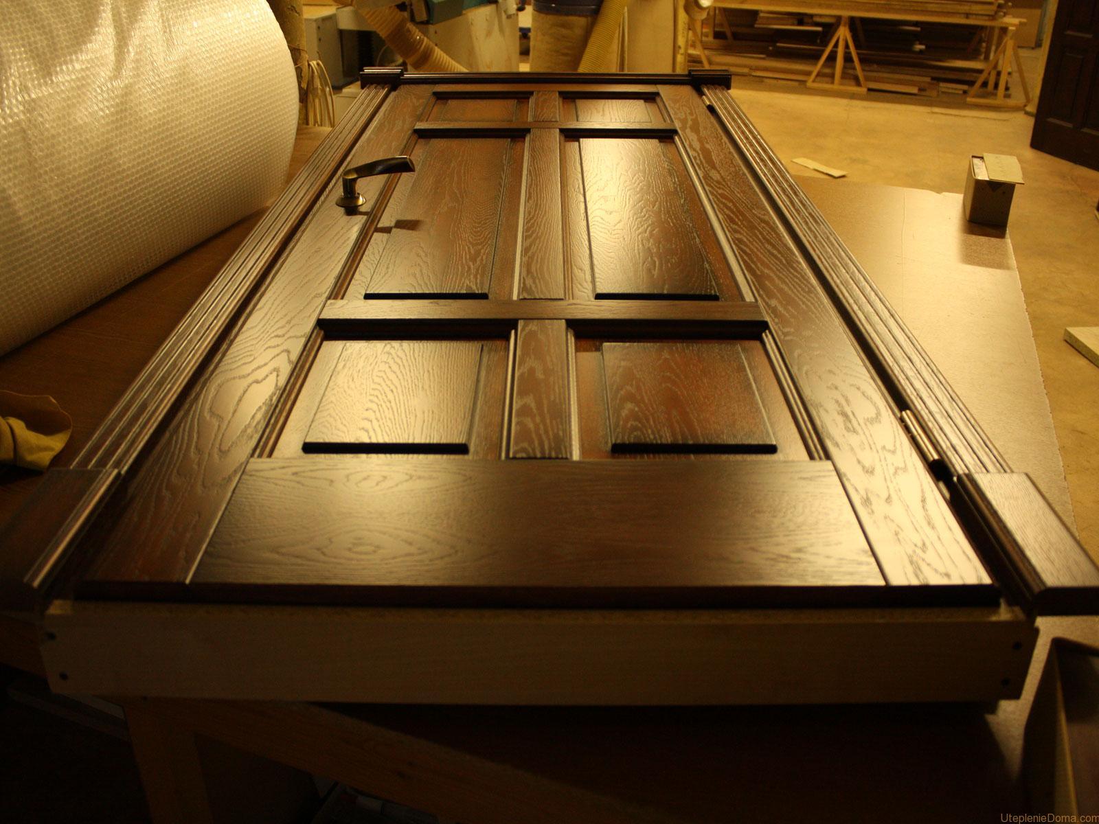 Изготовление деревянных входных дверей своими руками