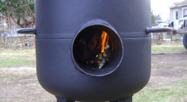 Буржуйка из газового баллона