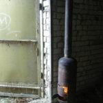 Самодельная печь буржуйка вертикального исполнения
