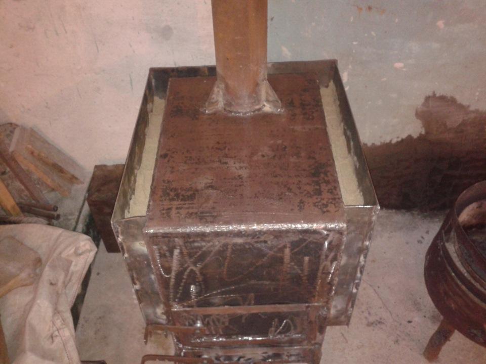Железная дровяная печь своими руками