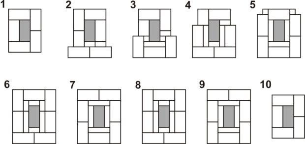 Схема кладки выдры дымохода