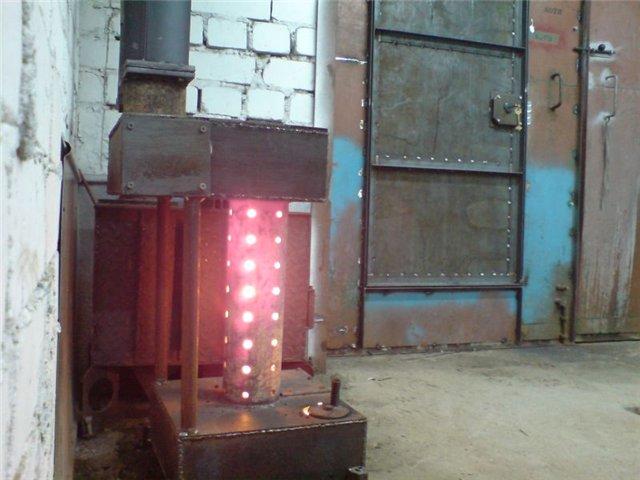 Печь на дровах для отопления гаража