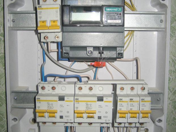 Подключение к электрической сети