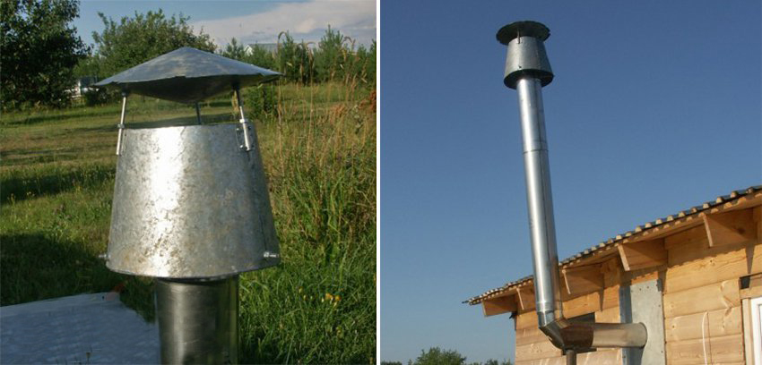 Дефлектор на газовый дымоход своими руками облицовка печей каминов плиткой