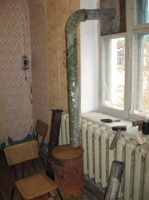 Вывод трубы через окно