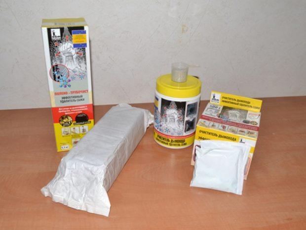 Химические средства для очистки дымохода