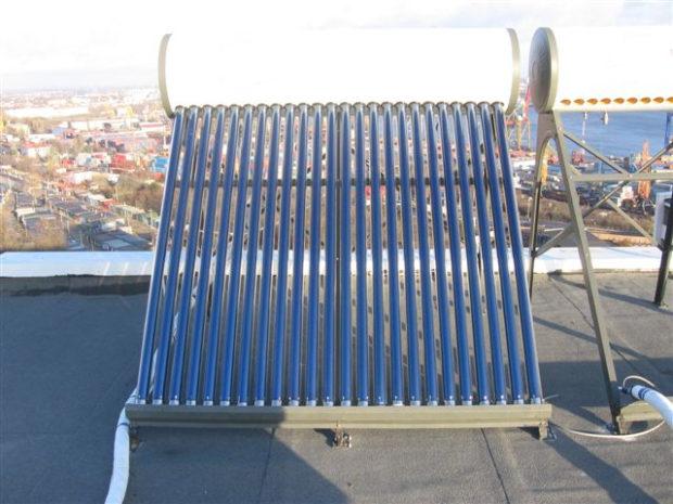 Установка коллектора на крыше