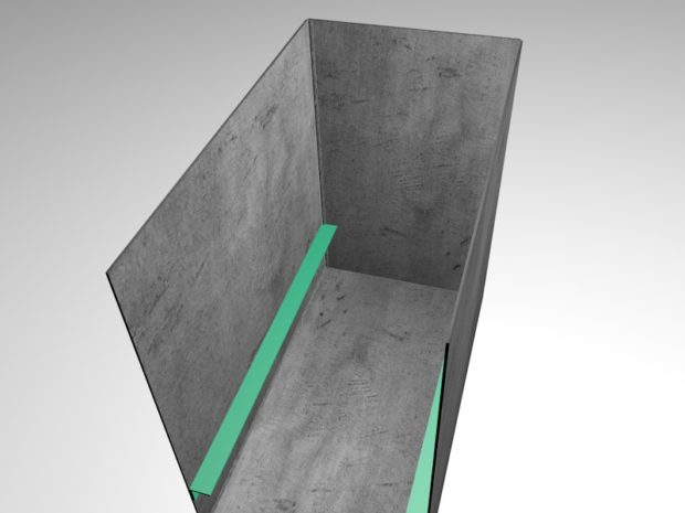 Закрепление задней стенки на конструкции