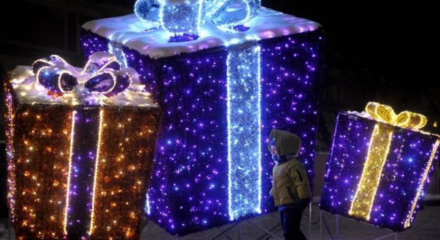 Объемные световые фигуры в украшении улиц