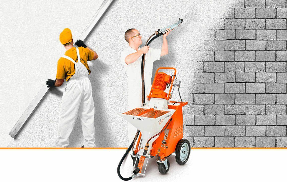 Механизированное оштукатуривание стен: особенности и преимущества метода