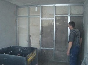 процесс теплоизоляции стен