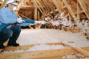 утепление крыши пенистым материалом