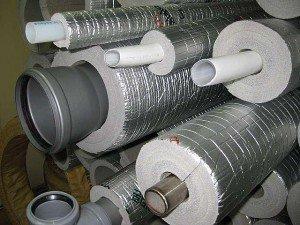 трубы канализации также нуждаются в теплозащите