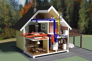 Водяное отопление двухэтажного дома