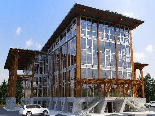 Строительство деревянного офисного здания в Солнечногорском районе
