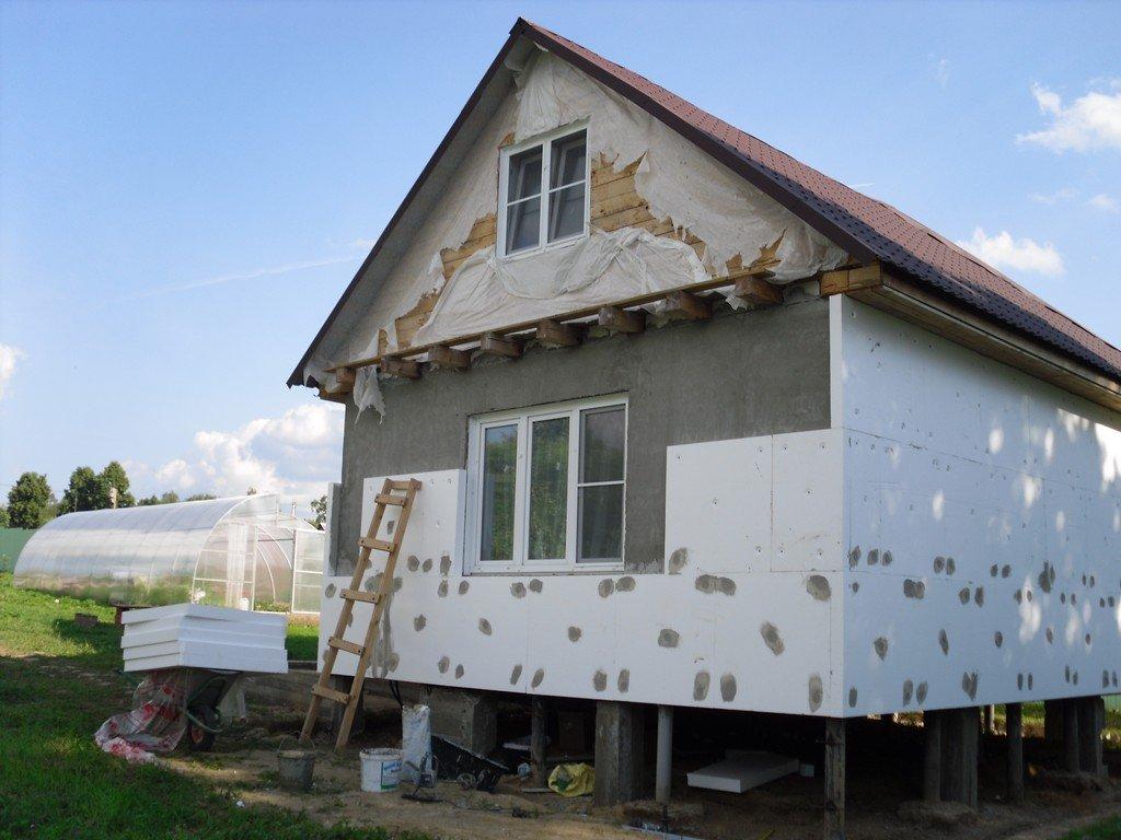 Утепление фасада дома своими руками