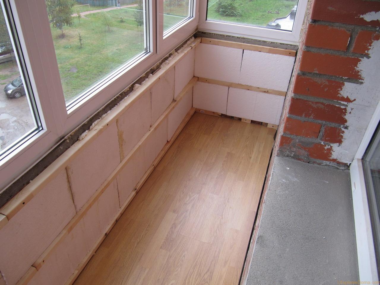 Утепляем балкон панельного дома своими руками