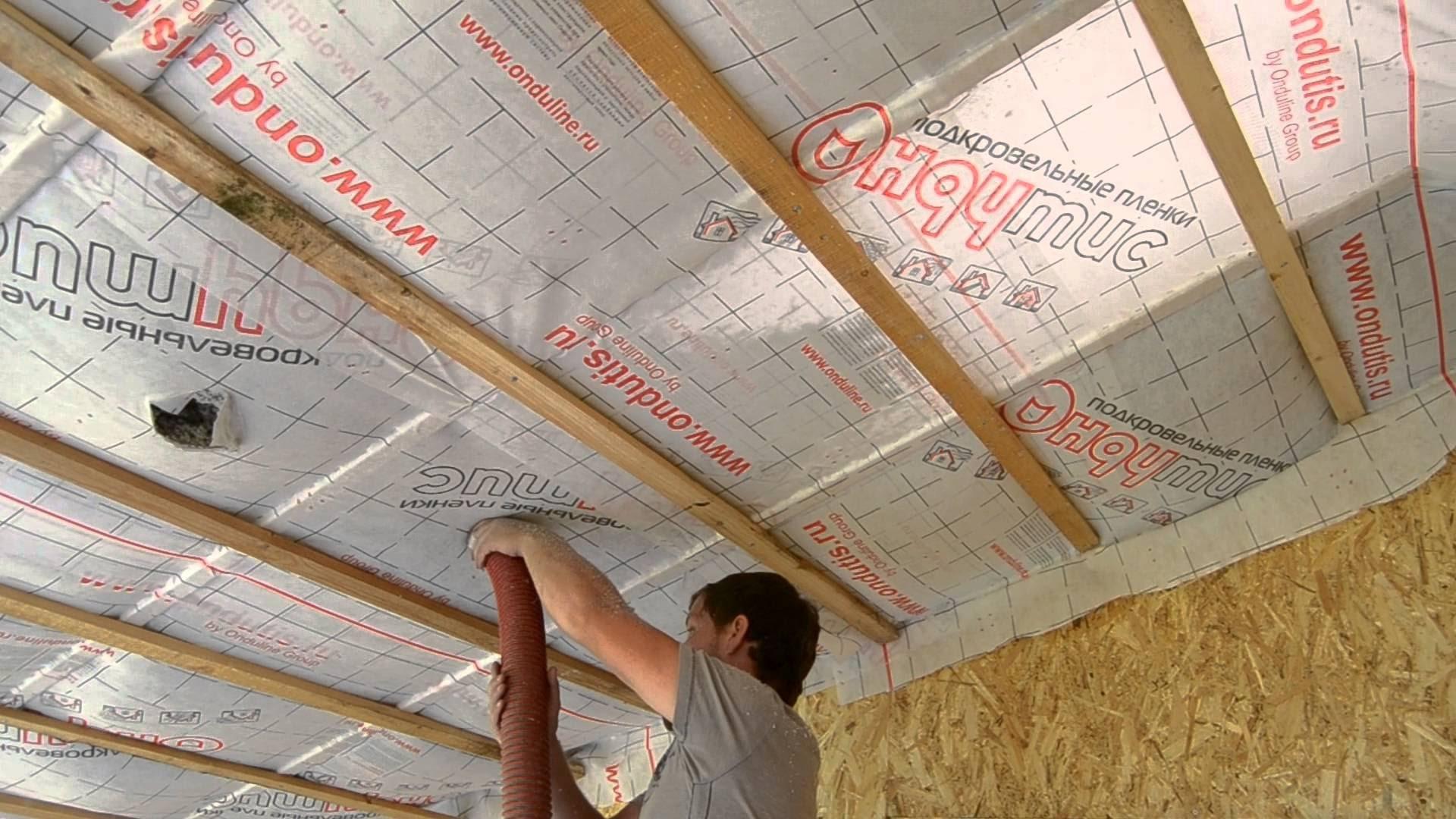 Утепляем потолок опилками
