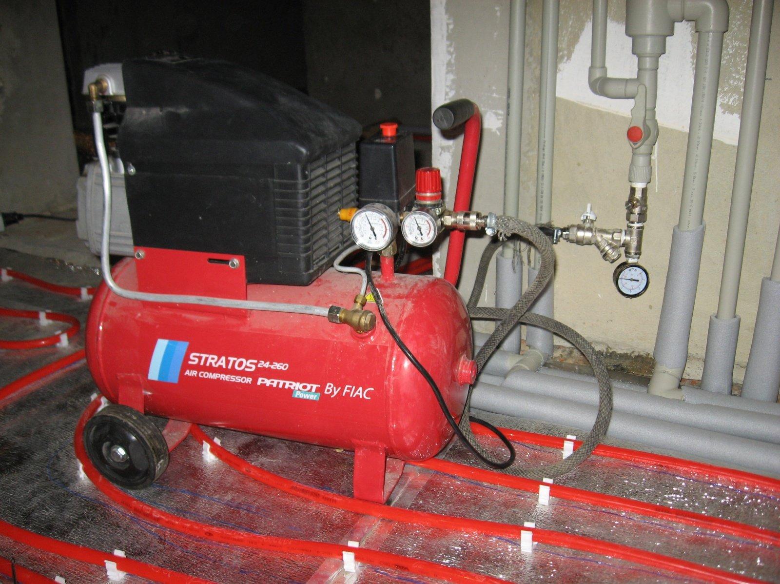 Как делается опрессовка систем отопления?