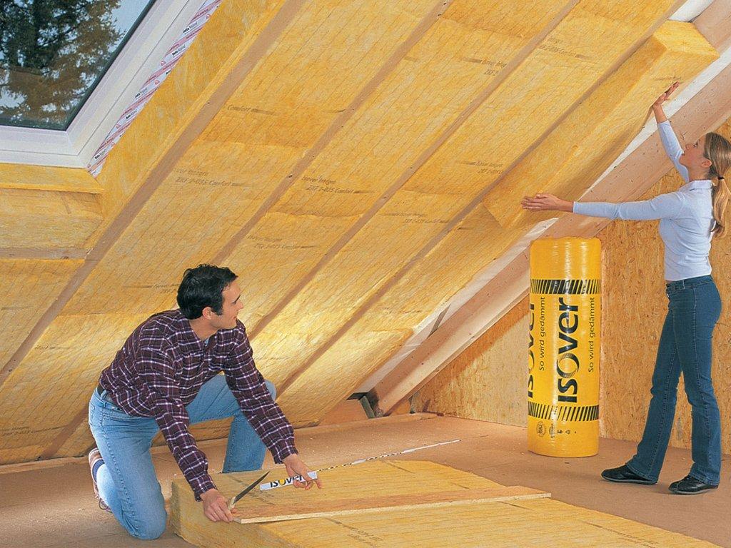 Утепляем потолок минеральной ватой
