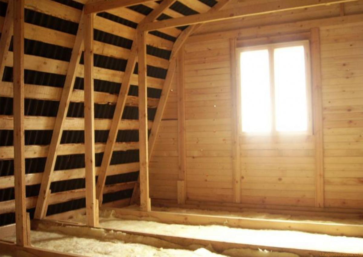 Утепляем второй этаж деревянного дома