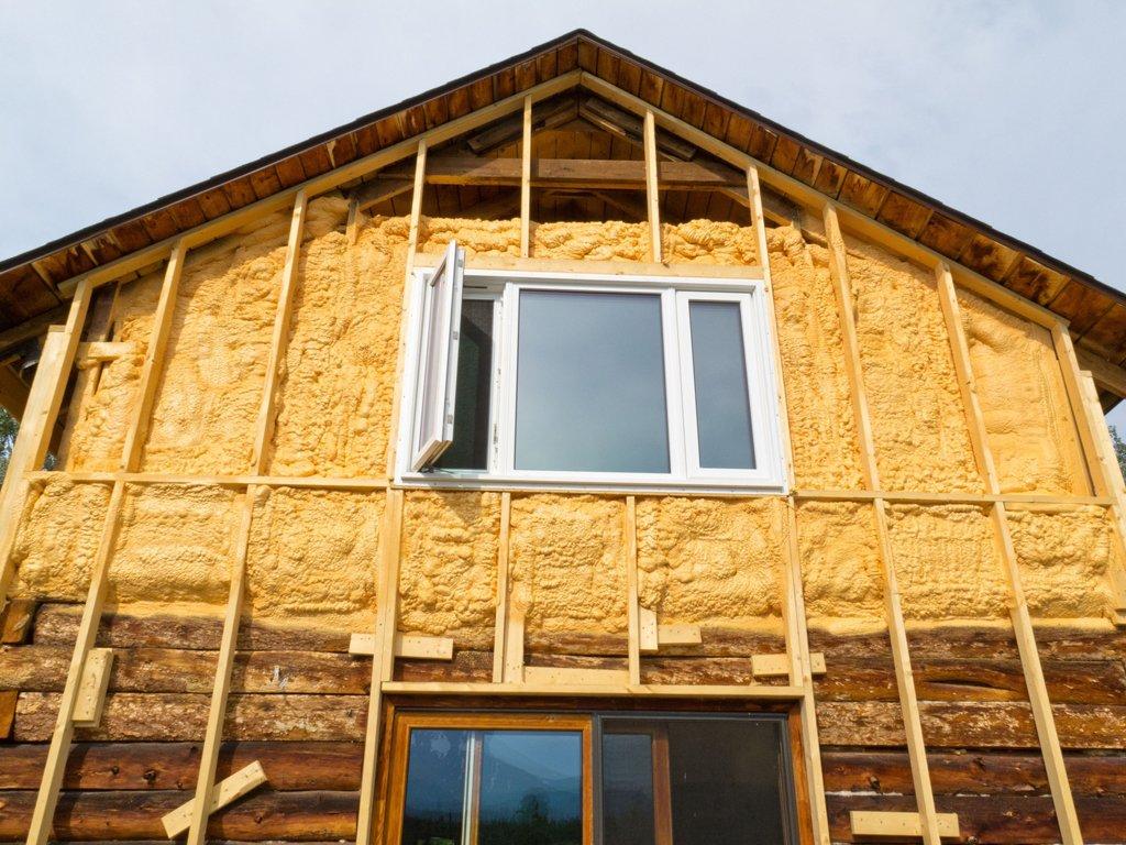 Наружное утепление брусового дома