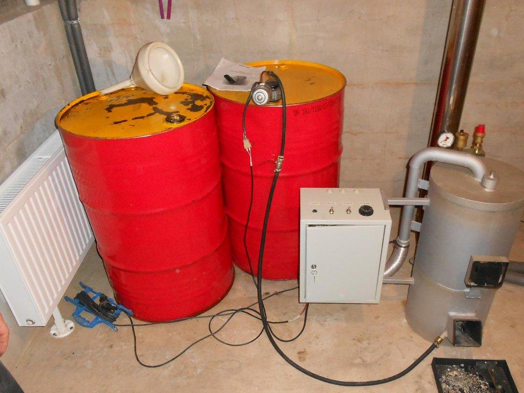 Принцип работы самодельного котла отопления на отработке