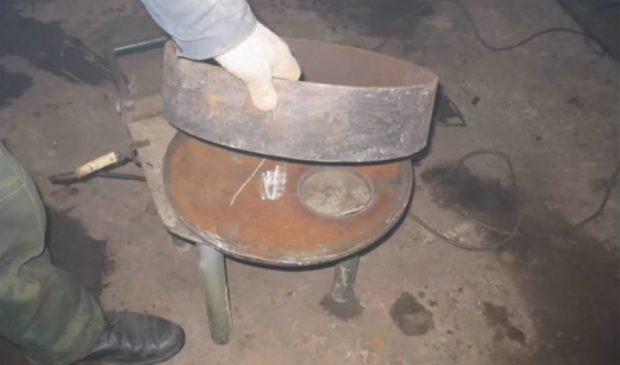 Печка на отработке своими руками