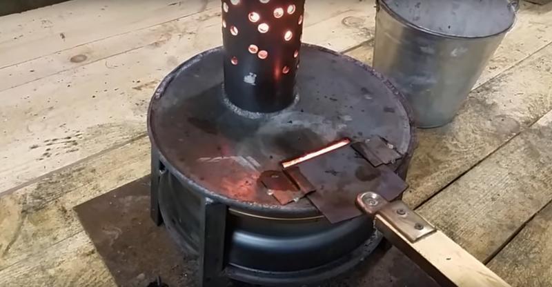 Буржуйка на отработке: используем дармовое топливо
