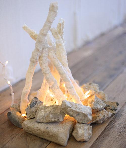 Самодельный очаг с искусственным пламенем