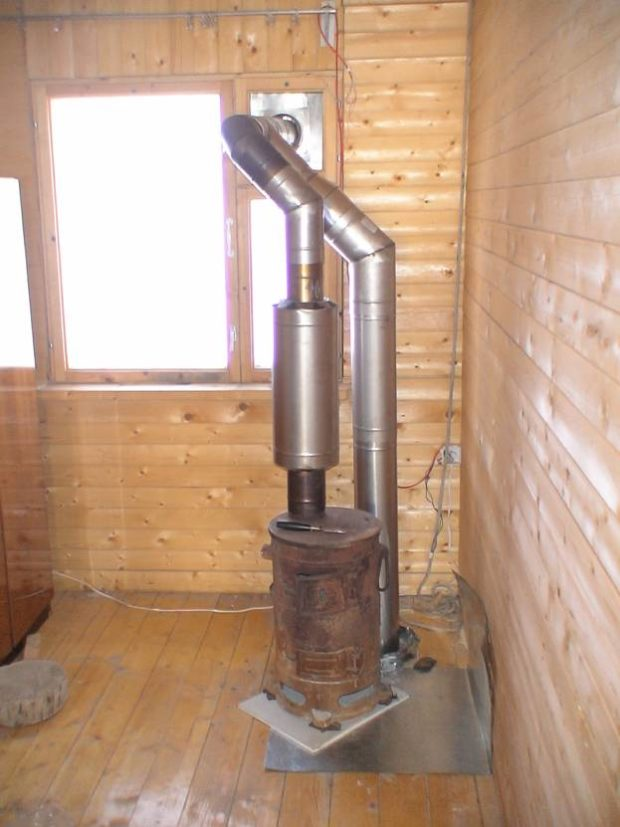 Вывод трубы через форточку
