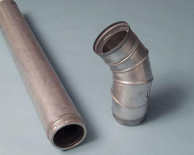 Металлические части трубы