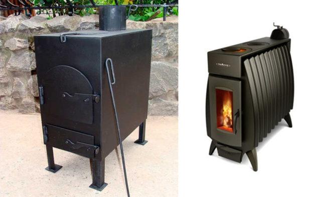 Печка-самоделка и промышленного изготовления