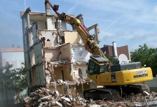 демонтаж здания или конструкции